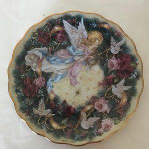 "Lena Liu ""Glad Tidings"" porcelain angel plate"